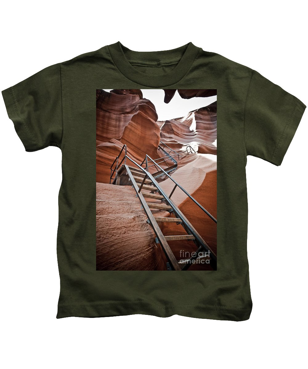 Slot Canyon Kids T-Shirt featuring the photograph Canyon Exit by Scott Sawyer