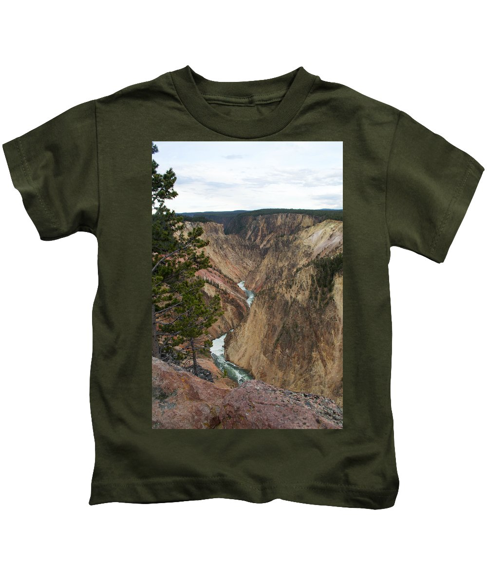 Grand Canyon Kids T-Shirt featuring the photograph Canyon River by Linda Kerkau