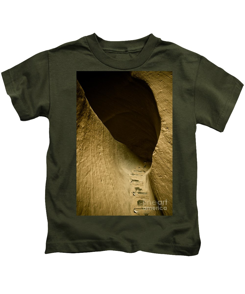 Photograph Kids T-Shirt featuring the photograph Canyon Steps by Scott Sawyer