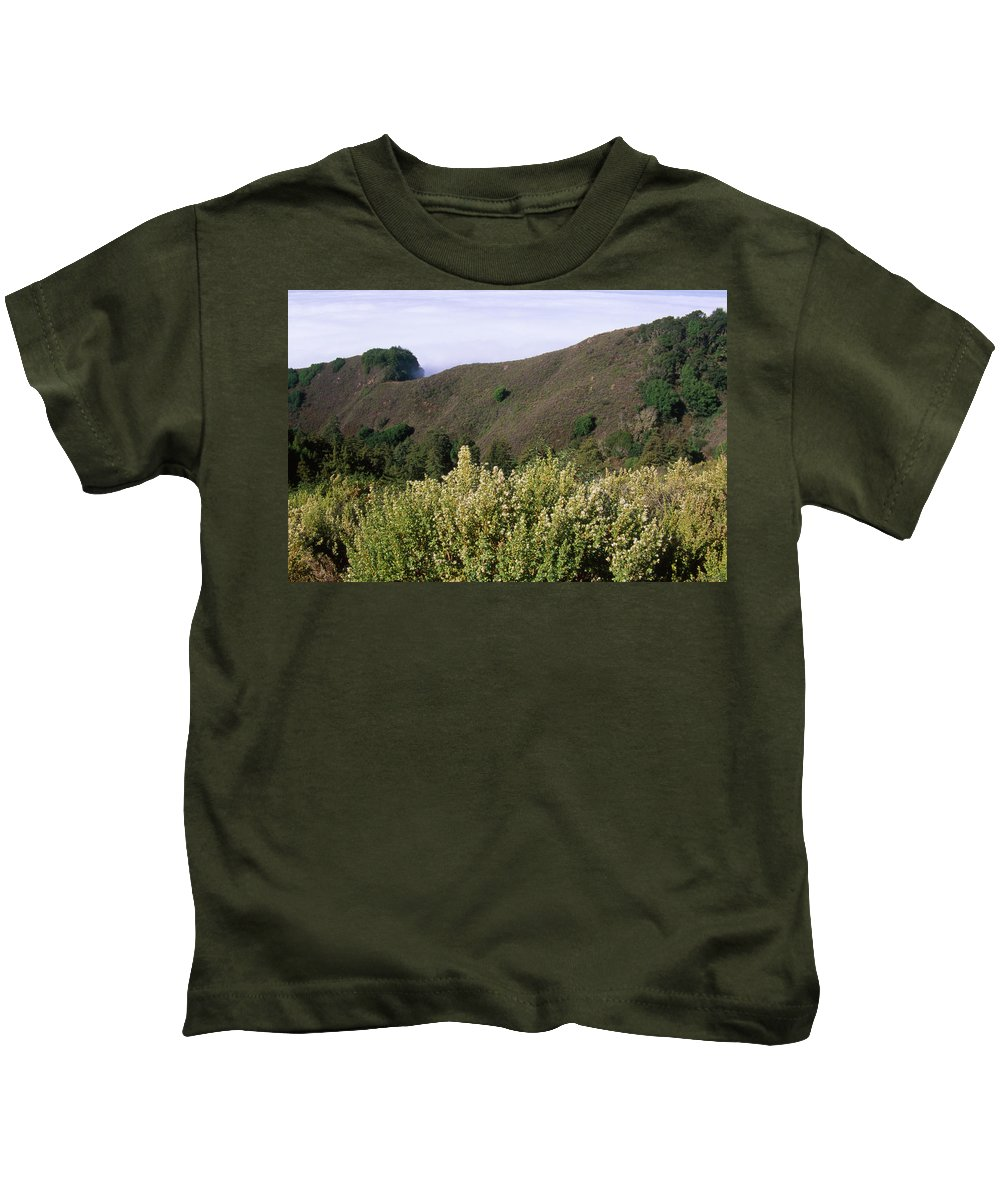 Santa Lucia Range Kids T-Shirt featuring the photograph Canyons And Clouds by Soli Deo Gloria Wilderness And Wildlife Photography