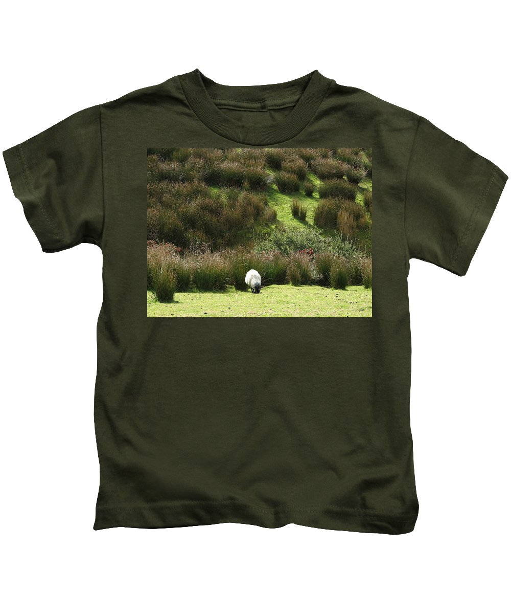 Sheep Kids T-Shirt featuring the photograph Caora by Kelly Mezzapelle