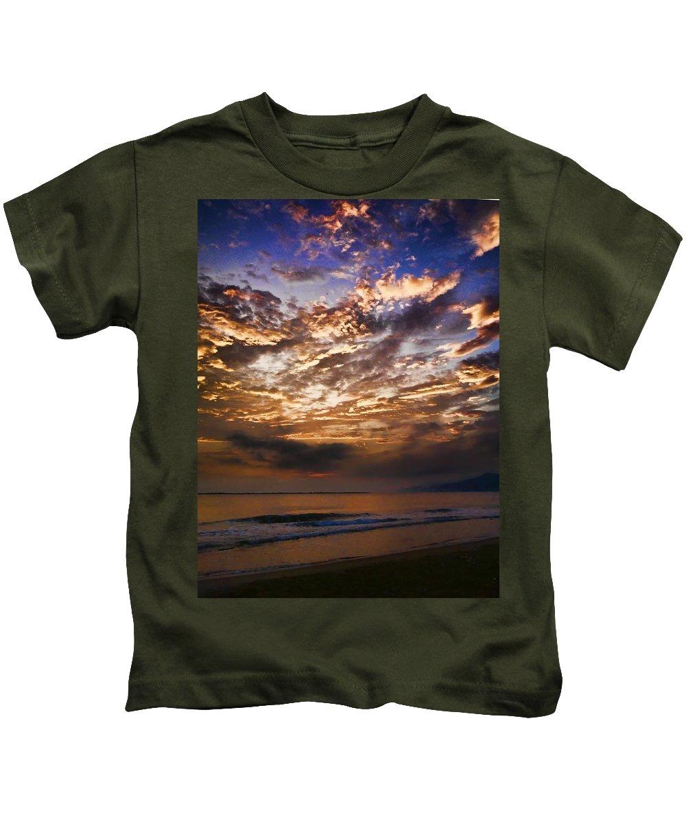 Sea Kids T-Shirt featuring the photograph Caribbean Sunshine by Galeria Trompiz