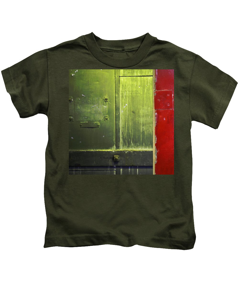 Metal Kids T-Shirt featuring the photograph Carlton 6 - Firedoor Abstract by Tim Nyberg
