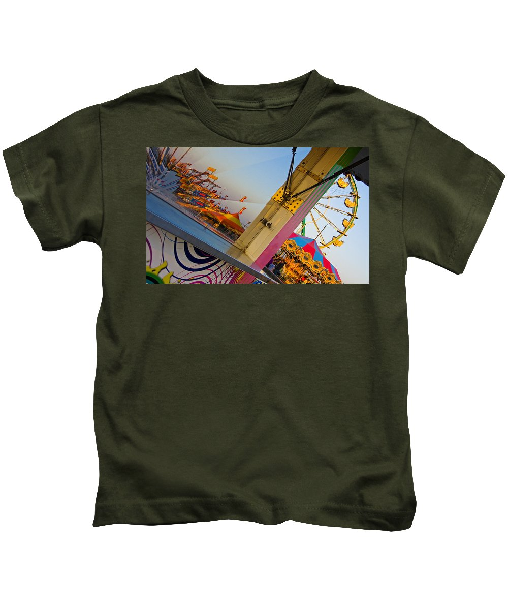 Carnival Kids T-Shirt featuring the photograph Carnival 1 by Skip Hunt
