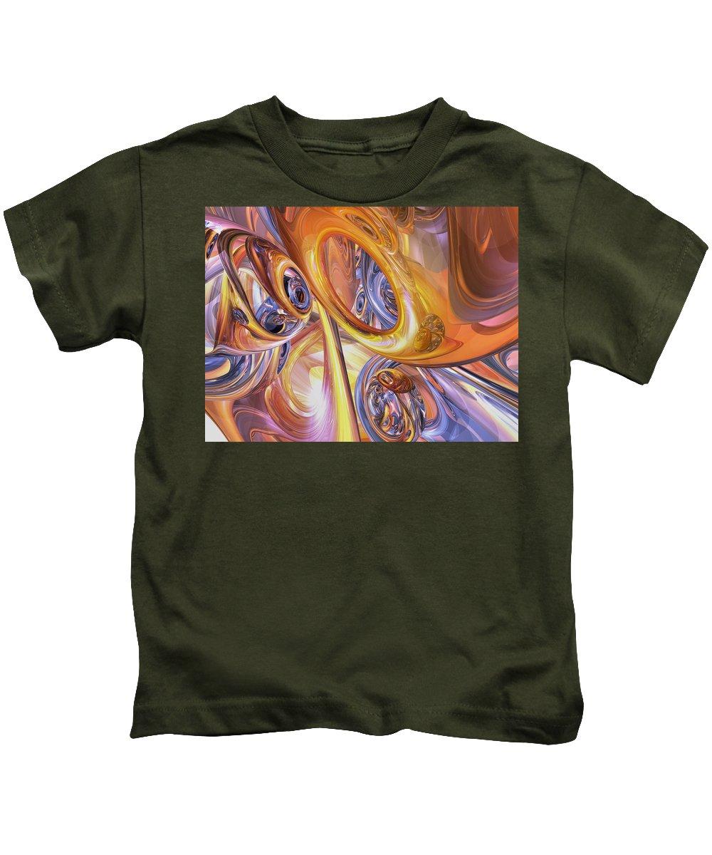 3d Kids T-Shirt featuring the digital art Carnival Abstract by Alexander Butler