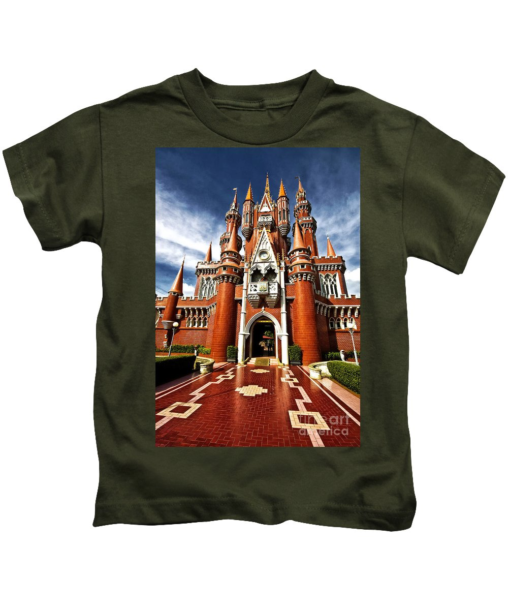 Children Kids T-Shirt featuring the photograph Castle Taman Mini Indonesia Indah by Charuhas Images