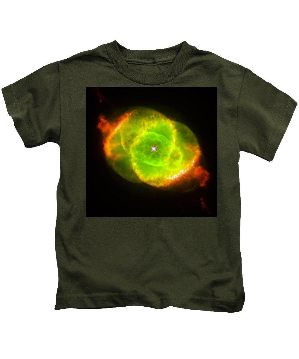 Nebula Kids T-Shirt featuring the photograph Cat's Eye Nebula by Jennifer Rondinelli Reilly - Fine Art Photography