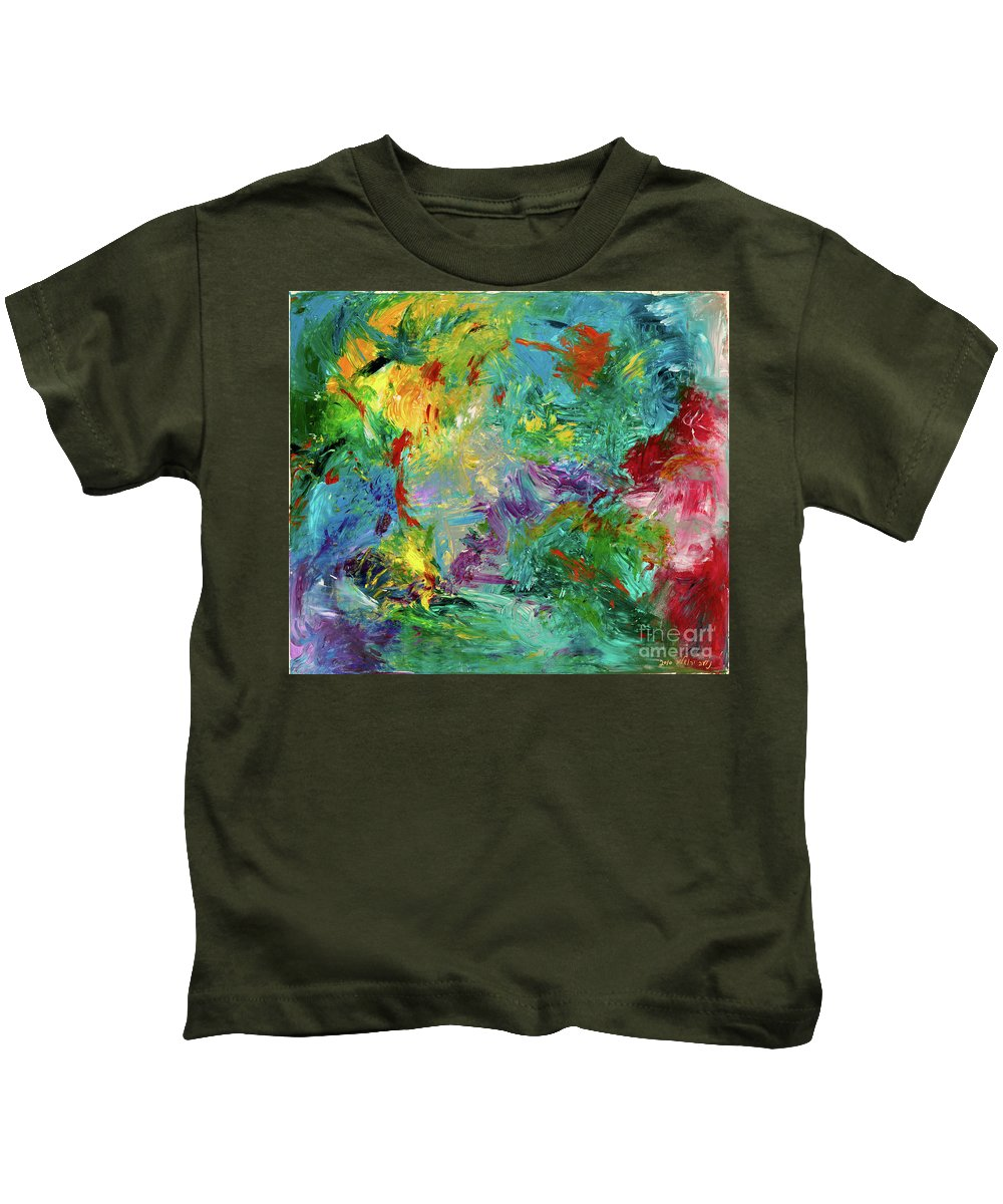 Colorful Abstract Kids T-Shirt featuring the painting Celebration by Noa Yerushalmi