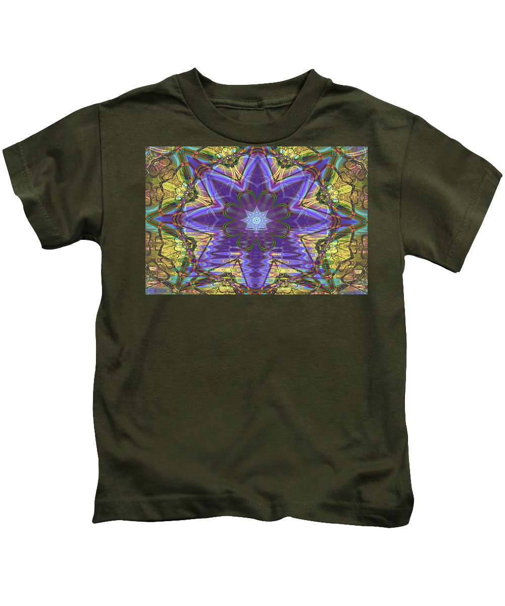 Abstract Kids T-Shirt featuring the digital art Celtic Knot by Frederic Durville