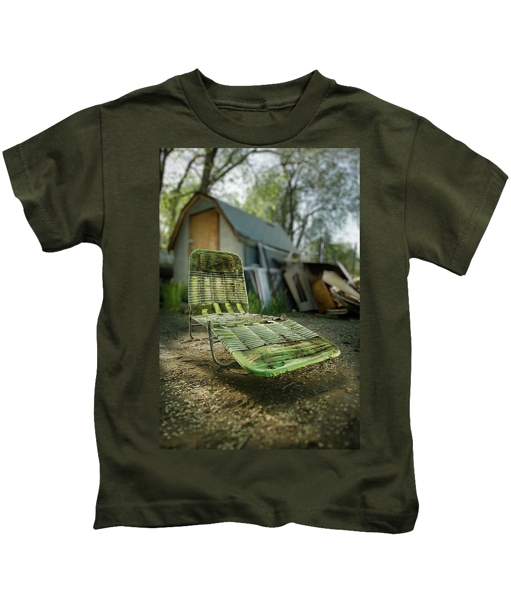 Classic Kids T-Shirt featuring the photograph Chaise Lounge by Yo Pedro