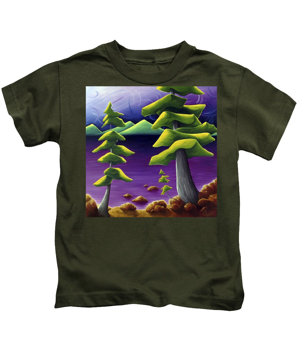 Landscape Kids T-Shirt featuring the painting Change Of Pace by Richard Hoedl
