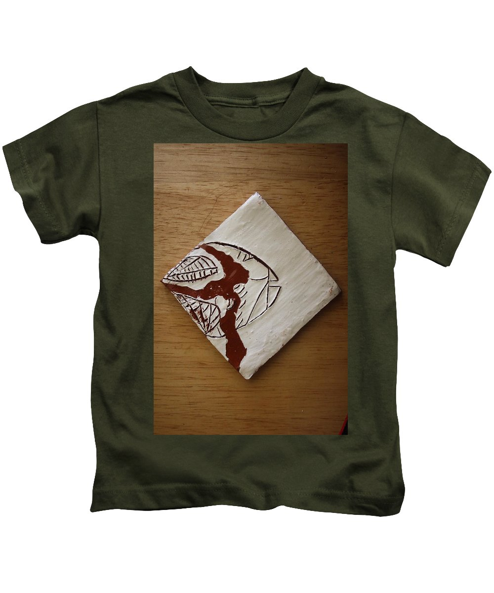 Jesus Kids T-Shirt featuring the ceramic art Character - Tile by Gloria Ssali
