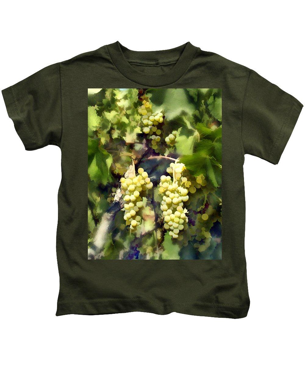 Chardonnay Kids T-Shirt featuring the photograph Chardonnay by Kurt Van Wagner