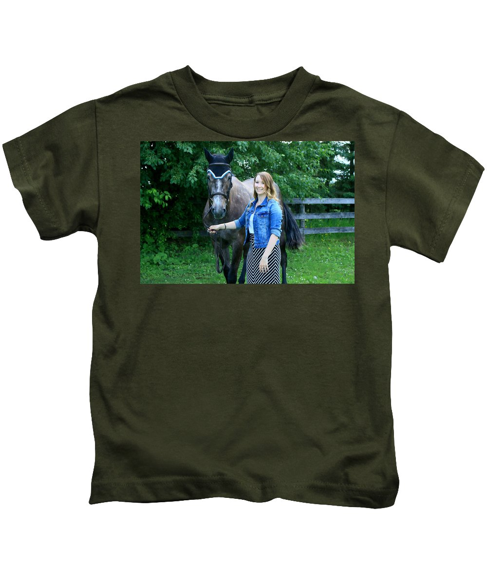 Kids T-Shirt featuring the photograph Charlotte-phil-18 by Life With Horses