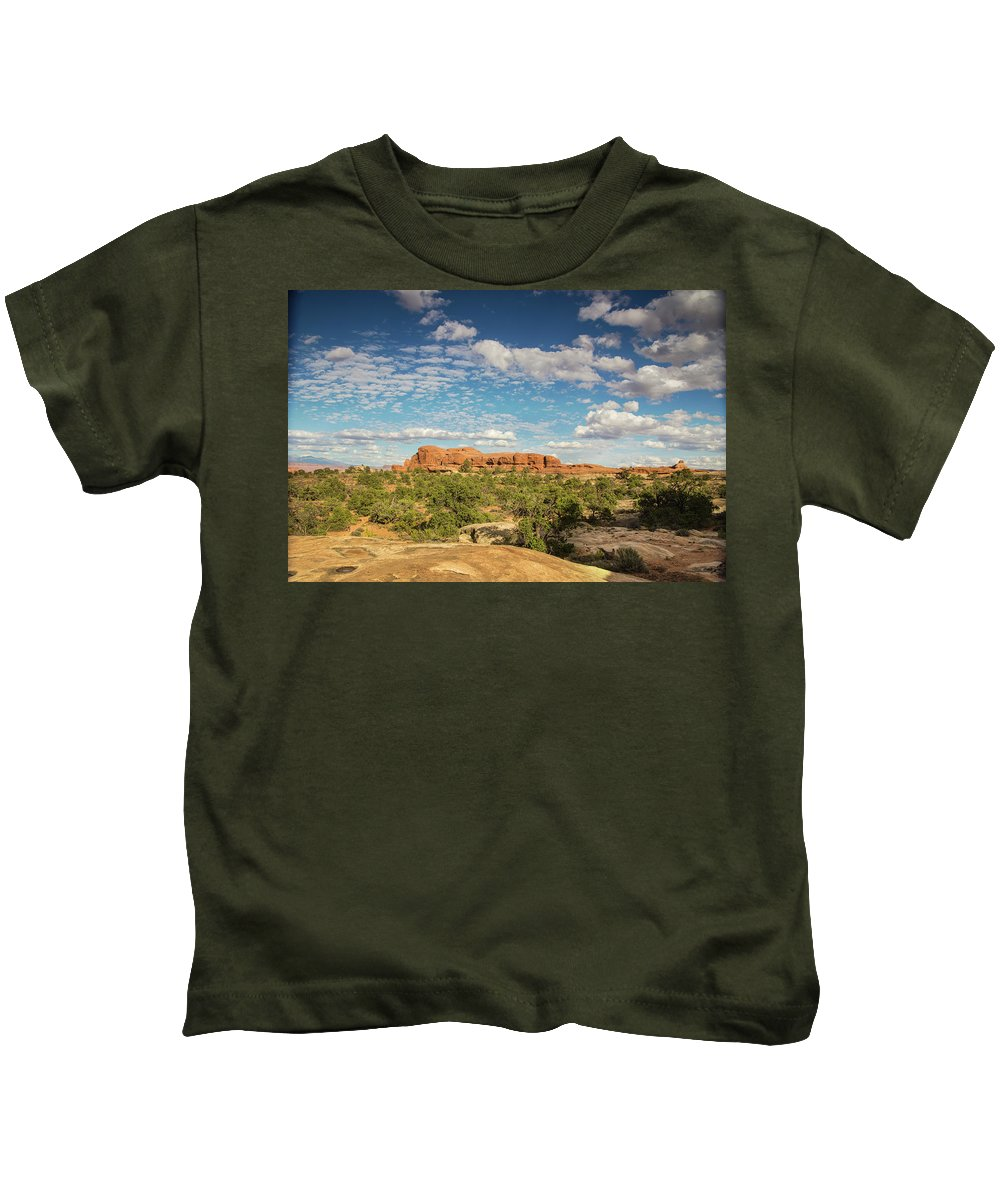 Canyonlands National Park Kids T-Shirt featuring the photograph Chesler Colors by Kunal Mehra