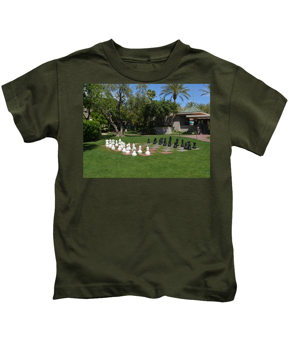 Chess Kids T-Shirt featuring the photograph Chess At The Biltmore by Aimee L Maher ALM GALLERY
