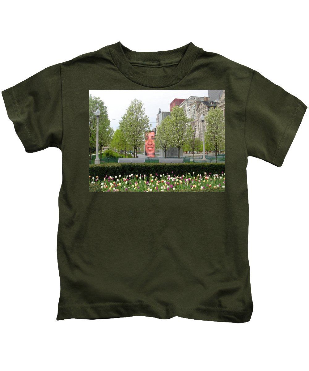 Chicago Kids T-Shirt featuring the photograph Chicago by Jean Macaluso