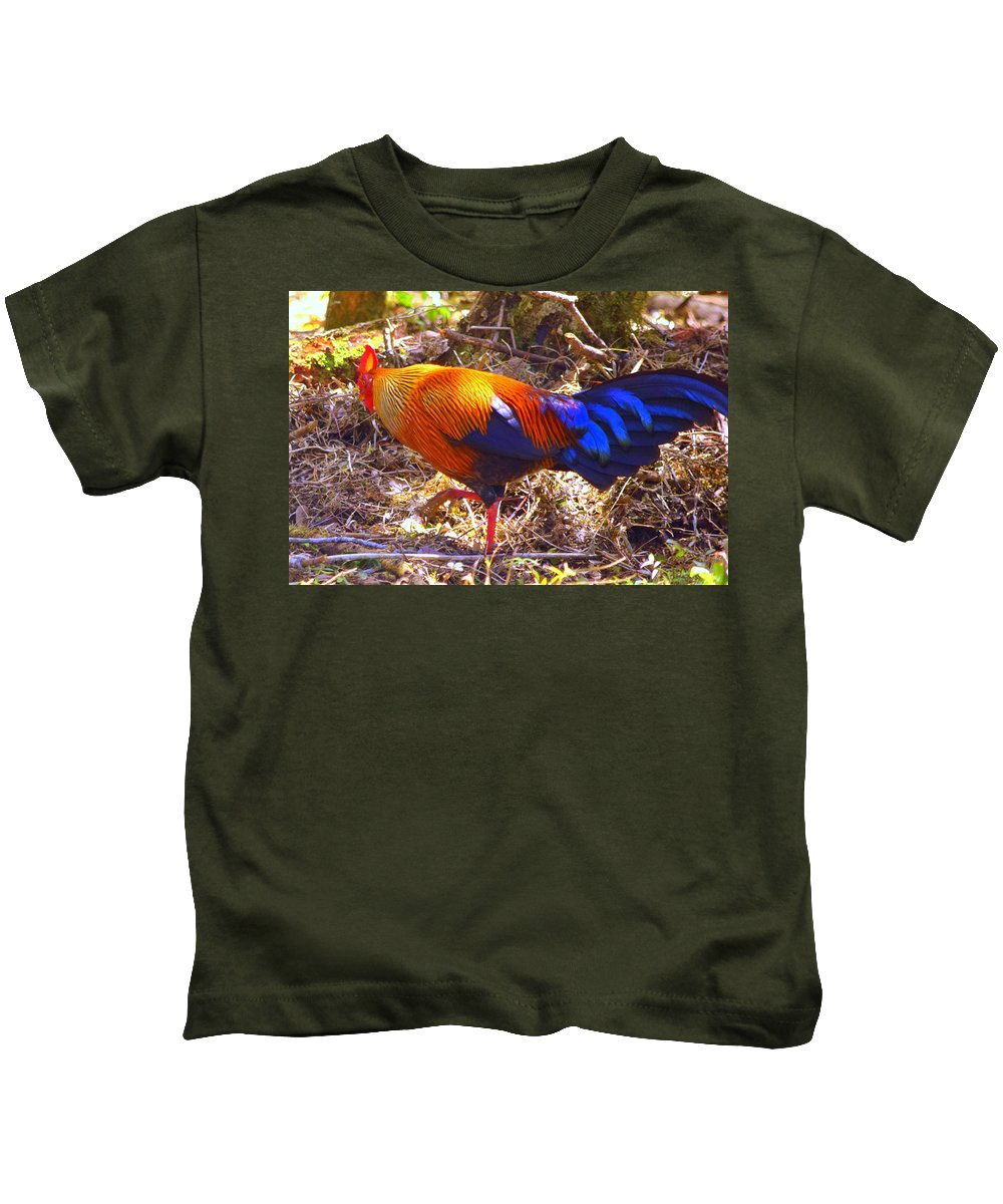Chicken Kids T-Shirt featuring the photograph Chicken by Nalin Wickramasinghe