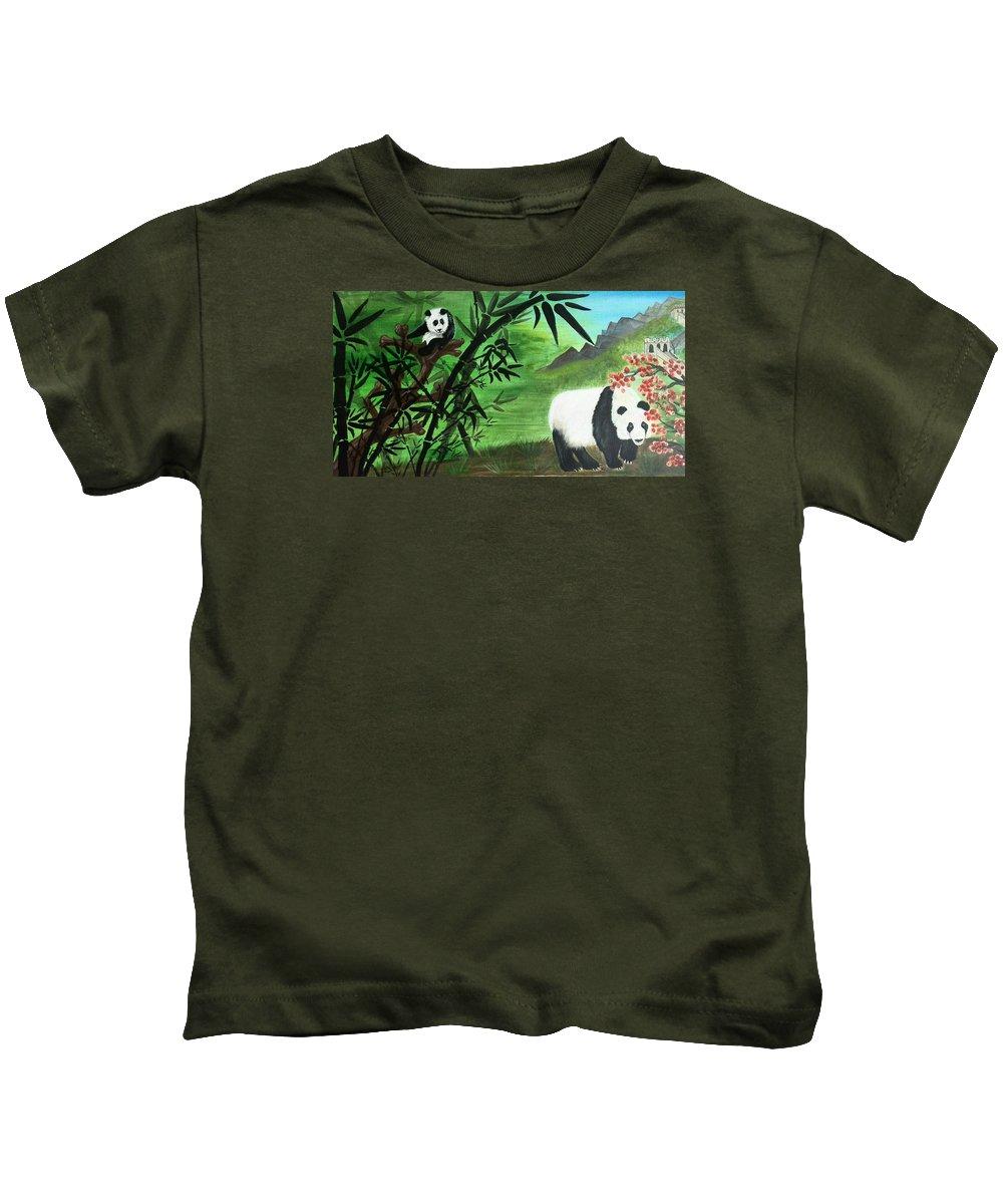 China Kids T-Shirt featuring the painting China by Sigita Smetonaite