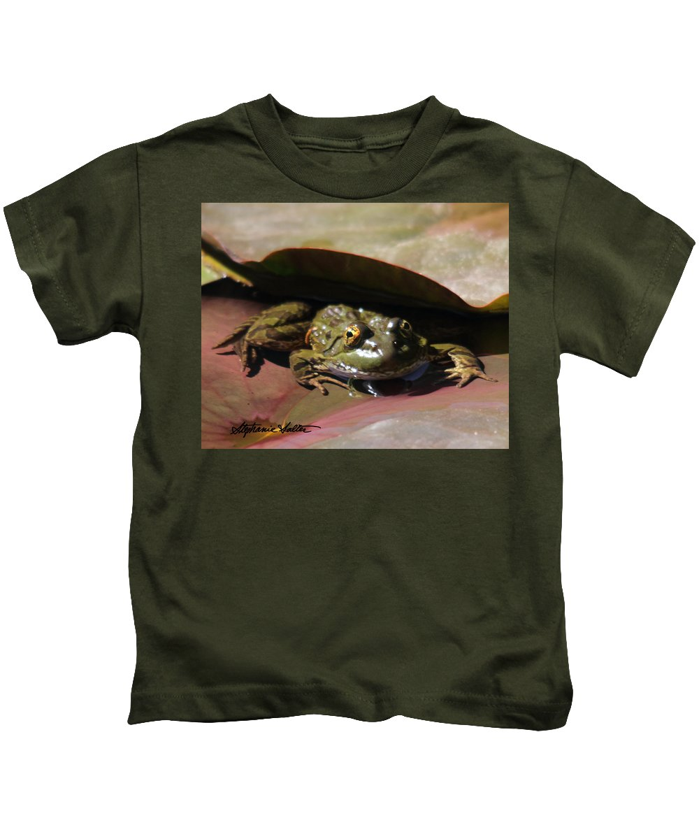 Nature Kids T-Shirt featuring the photograph Chiricahua Leopard Frog by Stephanie Salter