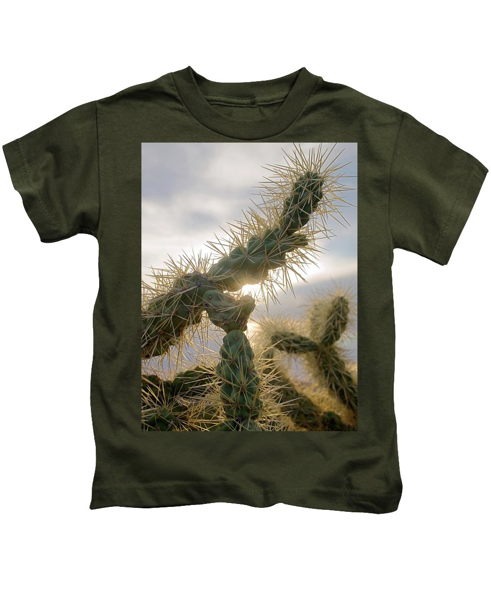 Nature Kids T-Shirt featuring the photograph Cholla, Organ Pipe National Monument, Az January 2015 by Timothy Giller