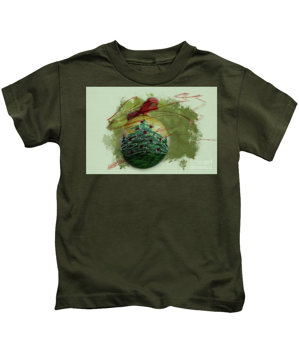 Christmas Decoration Kids T-Shirt featuring the photograph Christmas Magic by Eva Lechner