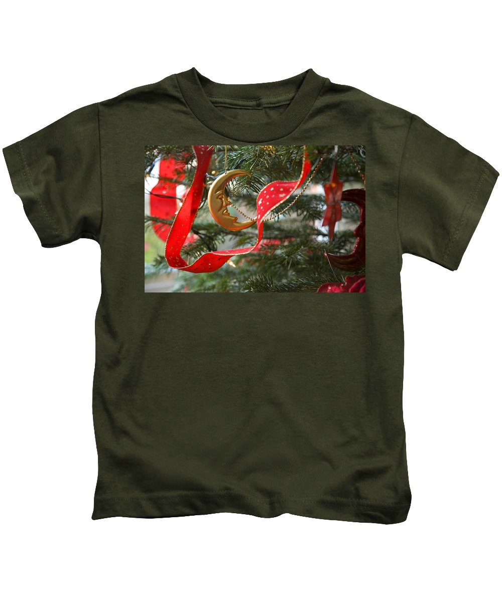 Christmas Kids T-Shirt featuring the photograph Christmas Tree Decorations by Mal Bray