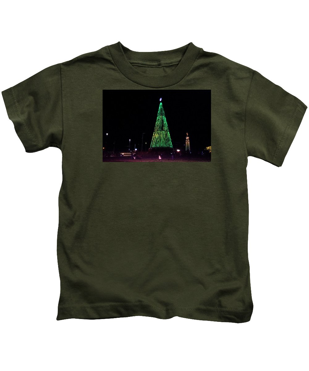 Christmas Tree Kids T-Shirt featuring the photograph Christmas Tree San Salvador 7 by Totto Ponce