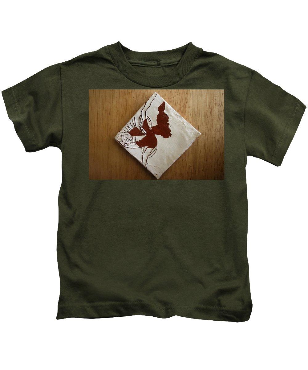 Jesus Kids T-Shirt featuring the ceramic art Christobel - Tile by Gloria Ssali