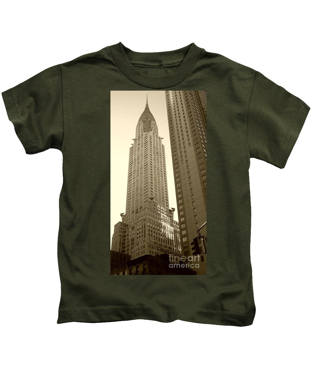 New York Kids T-Shirt featuring the photograph Chrysler Building by Debbi Granruth