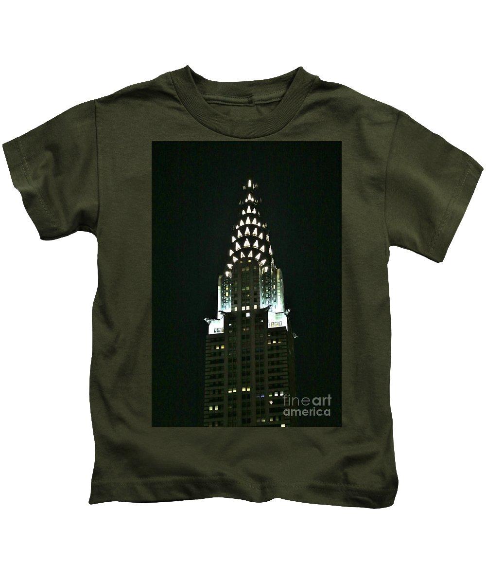 Destination Kids T-Shirt featuring the photograph Chrysler Building In Manhattan New York City by Douglas Sacha