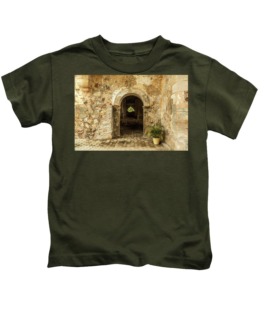 Landscape Kids T-Shirt featuring the photograph Church Ruins At El Rosario, Sinaloa by Javier Flores
