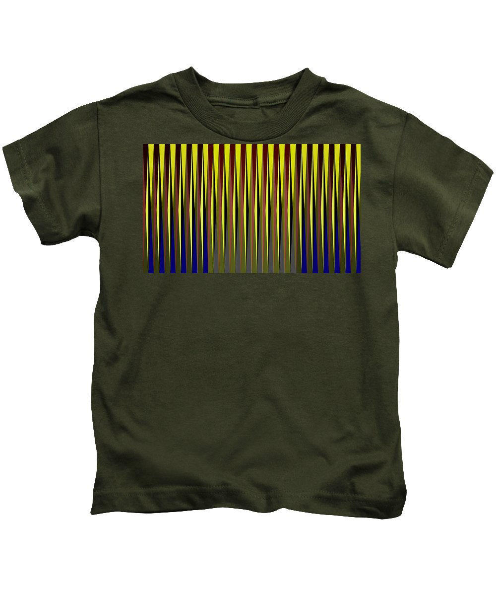 Cinetic Kids T-Shirt featuring the digital art Cinetic Art by Galeria Trompiz