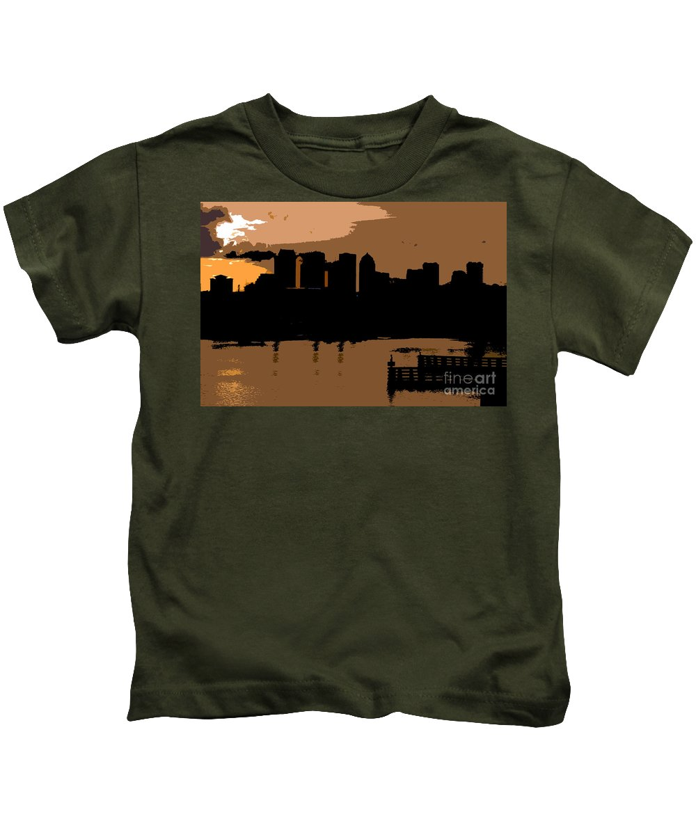 City Kids T-Shirt featuring the photograph City By The Bay by David Lee Thompson