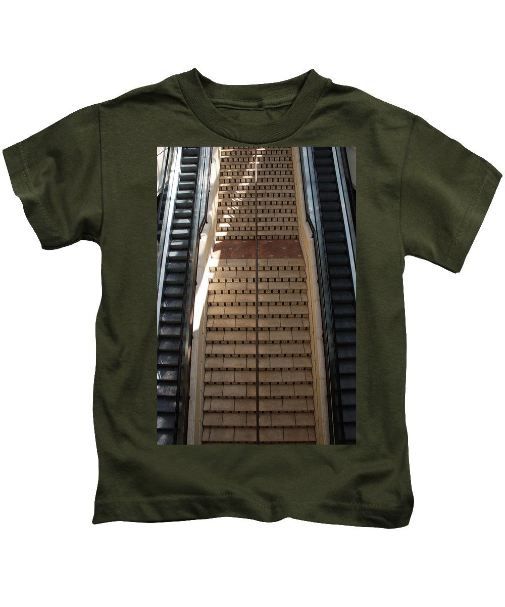 Stairs Kids T-Shirt featuring the photograph City Place Stairs by Rob Hans