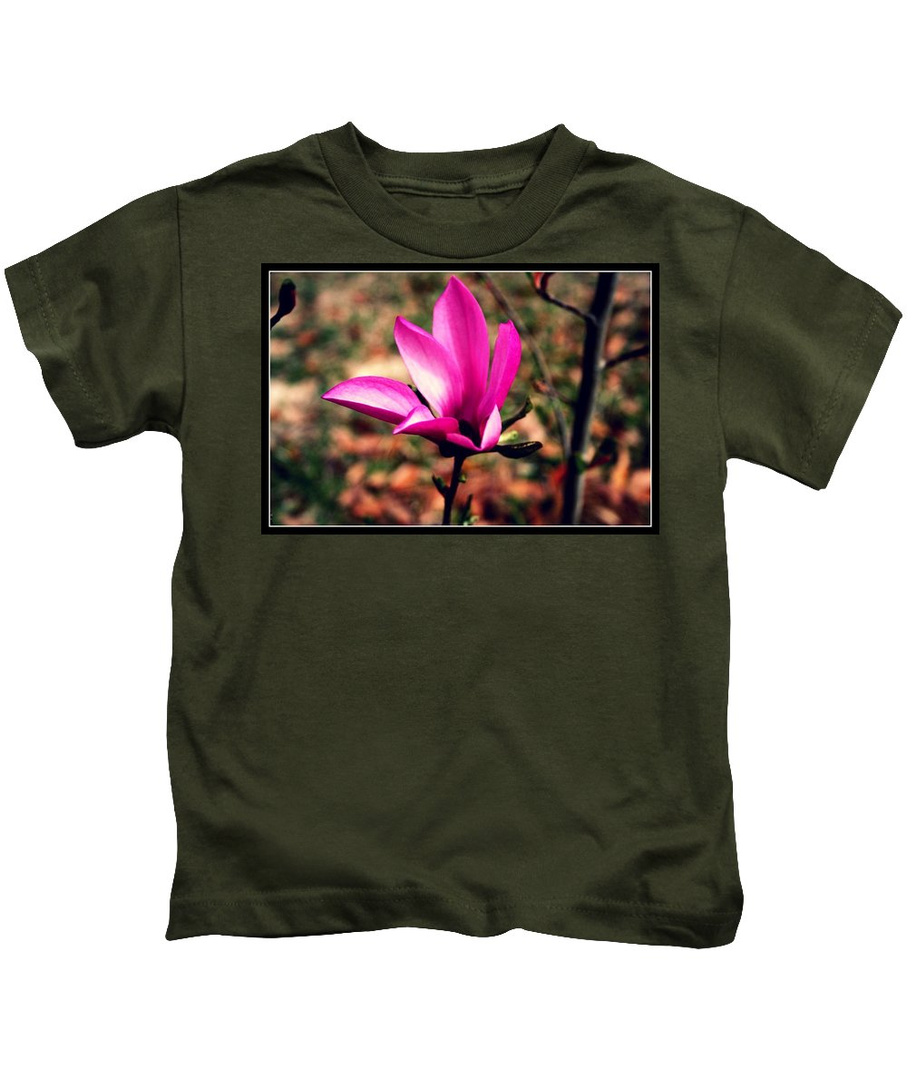 Landscape Kids T-Shirt featuring the photograph Classic Pink by Vanessa Reed