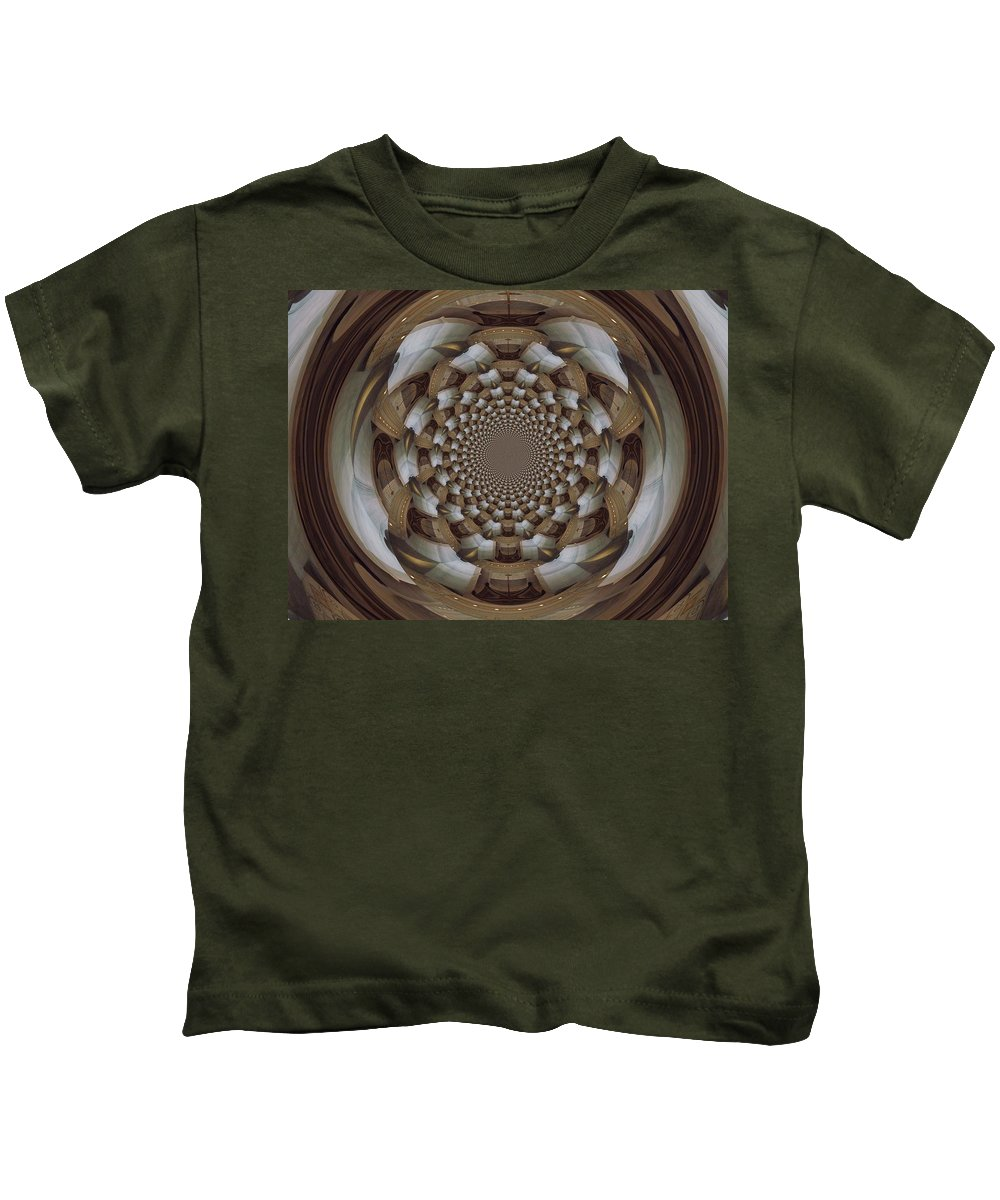 Swirl Kids T-Shirt featuring the digital art Clawing Out by Charleen Treasures