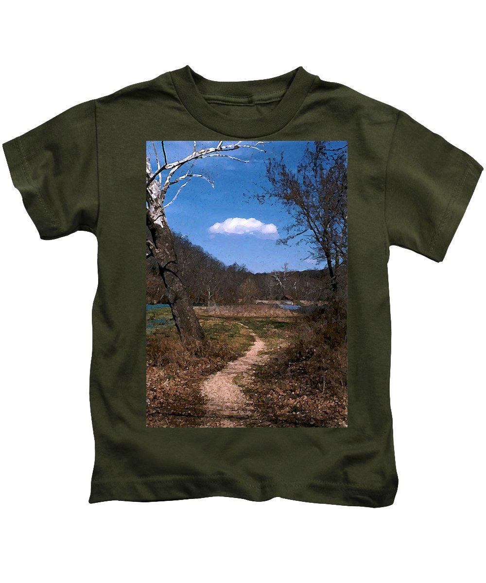 Landscape Kids T-Shirt featuring the photograph Cloud Destination by Steve Karol