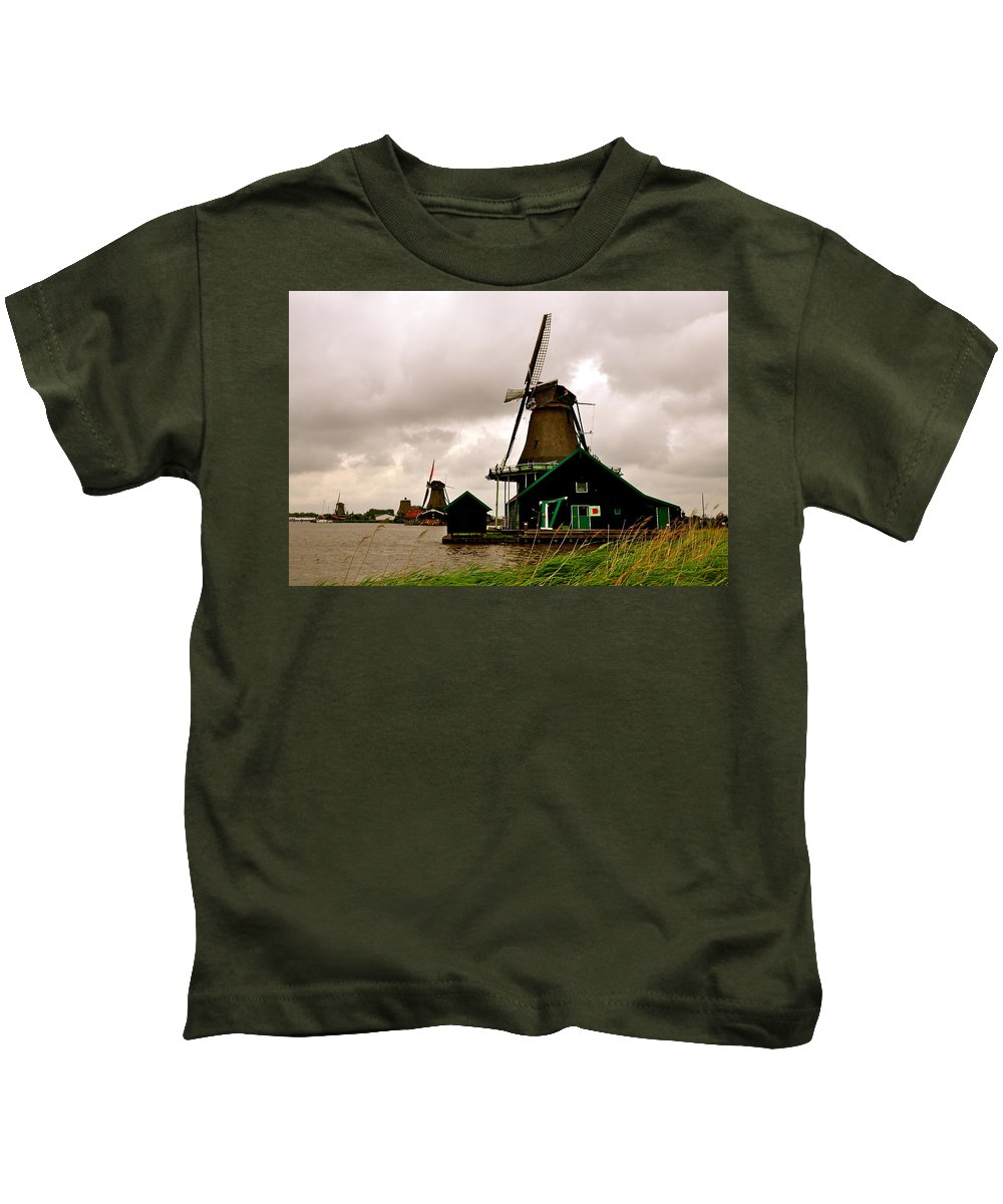 Holland Kids T-Shirt featuring the photograph Cloudy Holland by Caroline Reyes-Loughrey