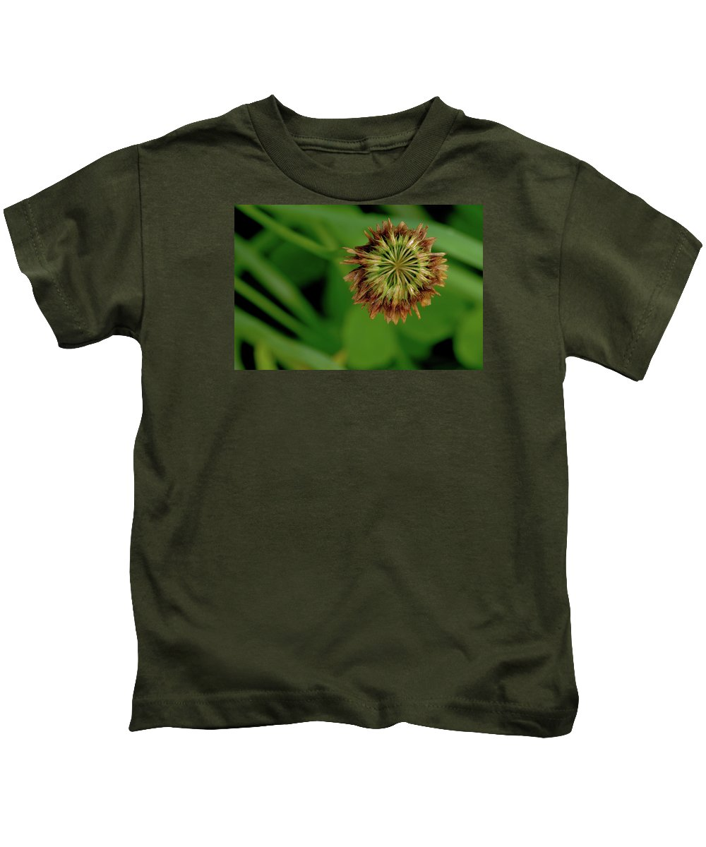 Clover Kids T-Shirt featuring the photograph Clover Past Due by Grant Groberg