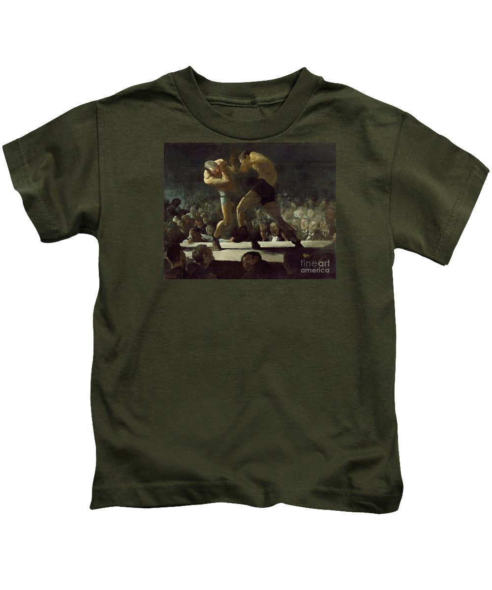 George Wesley Bellows (1882 � 1925) Kids T-Shirt featuring the painting Club Night by MotionAge Designs