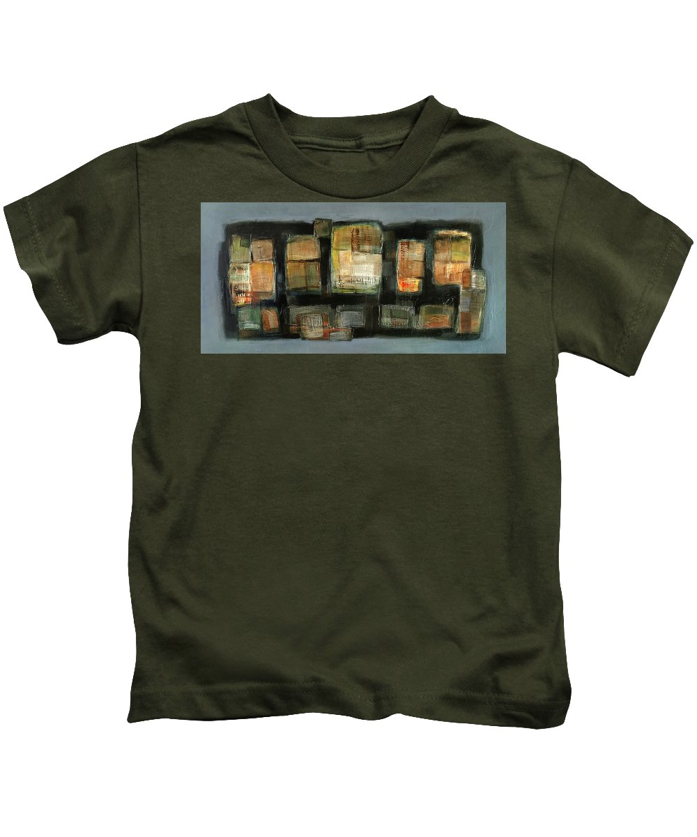 Sketching Kids T-Shirt featuring the painting Club by Behzad Sohrabi