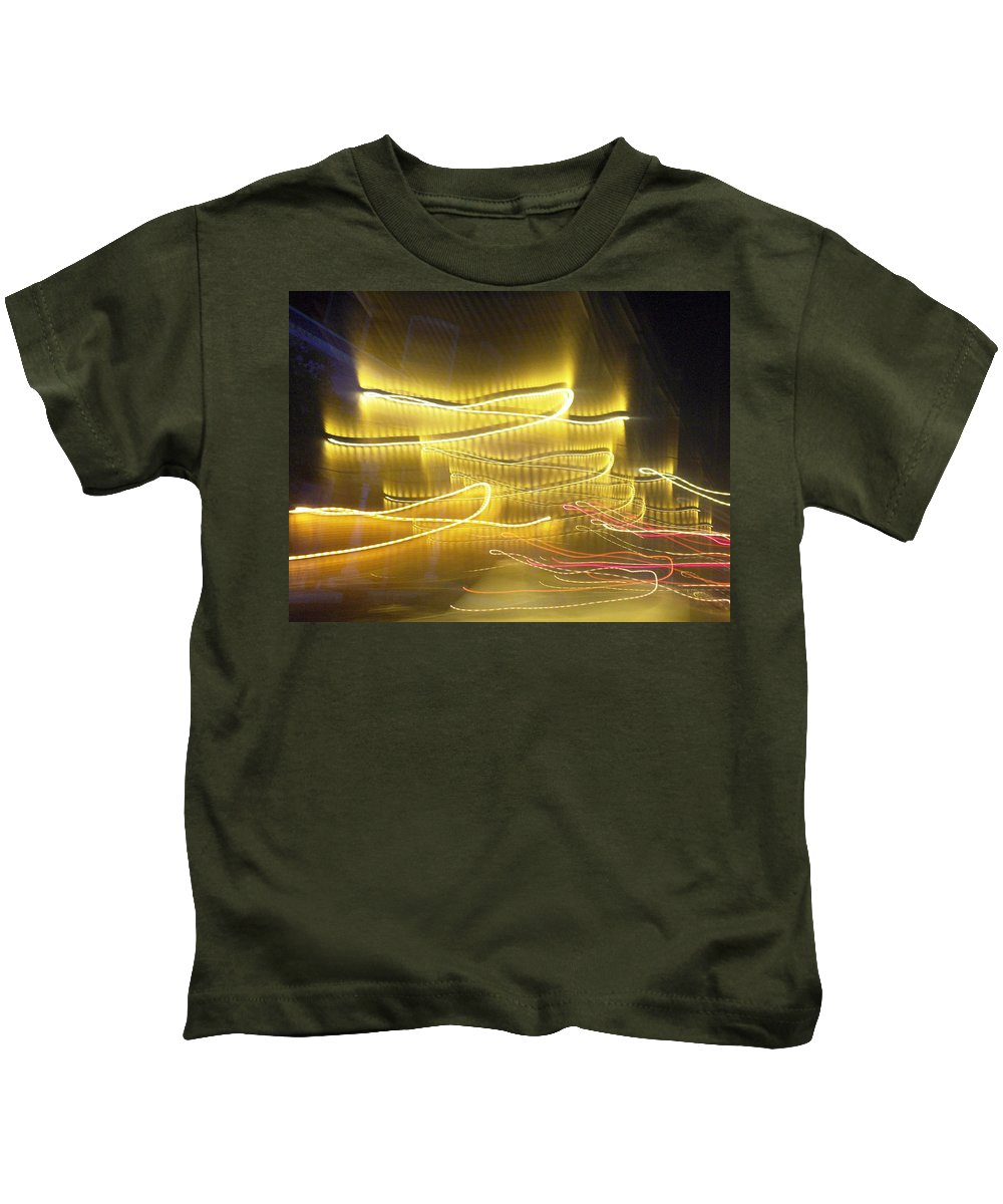 Photograph Kids T-Shirt featuring the photograph Coaster Of Lights Two by Thomas Valentine