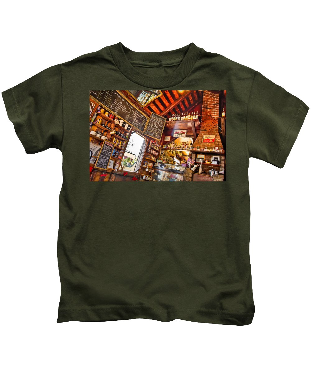 Coffeeshop Kids T-Shirt featuring the photograph Coffee House by Rich Leighton