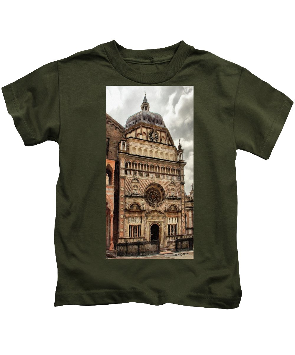 Chapel Kids T-Shirt featuring the painting Colleoni Chapel by Jeffrey Kolker