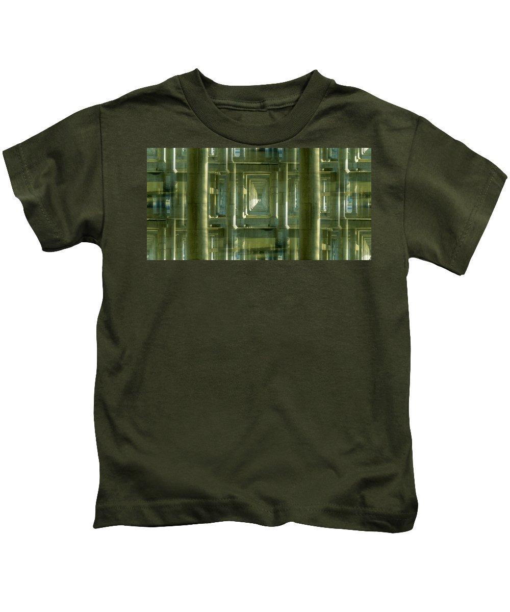 Seattle Kids T-Shirt featuring the photograph Colonnade Park Seattle by Tim Allen