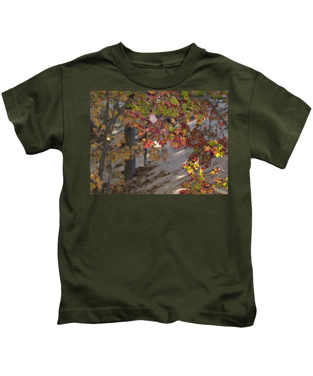 Michigan Kids T-Shirt featuring the photograph Color In The Dunes by Tara Lynn