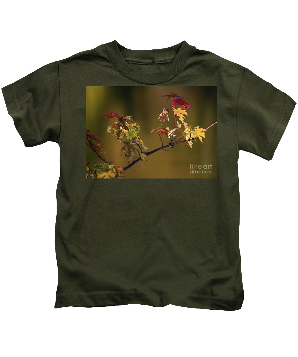 Fall Kids T-Shirt featuring the photograph Color On A Stick by Robert Pearson