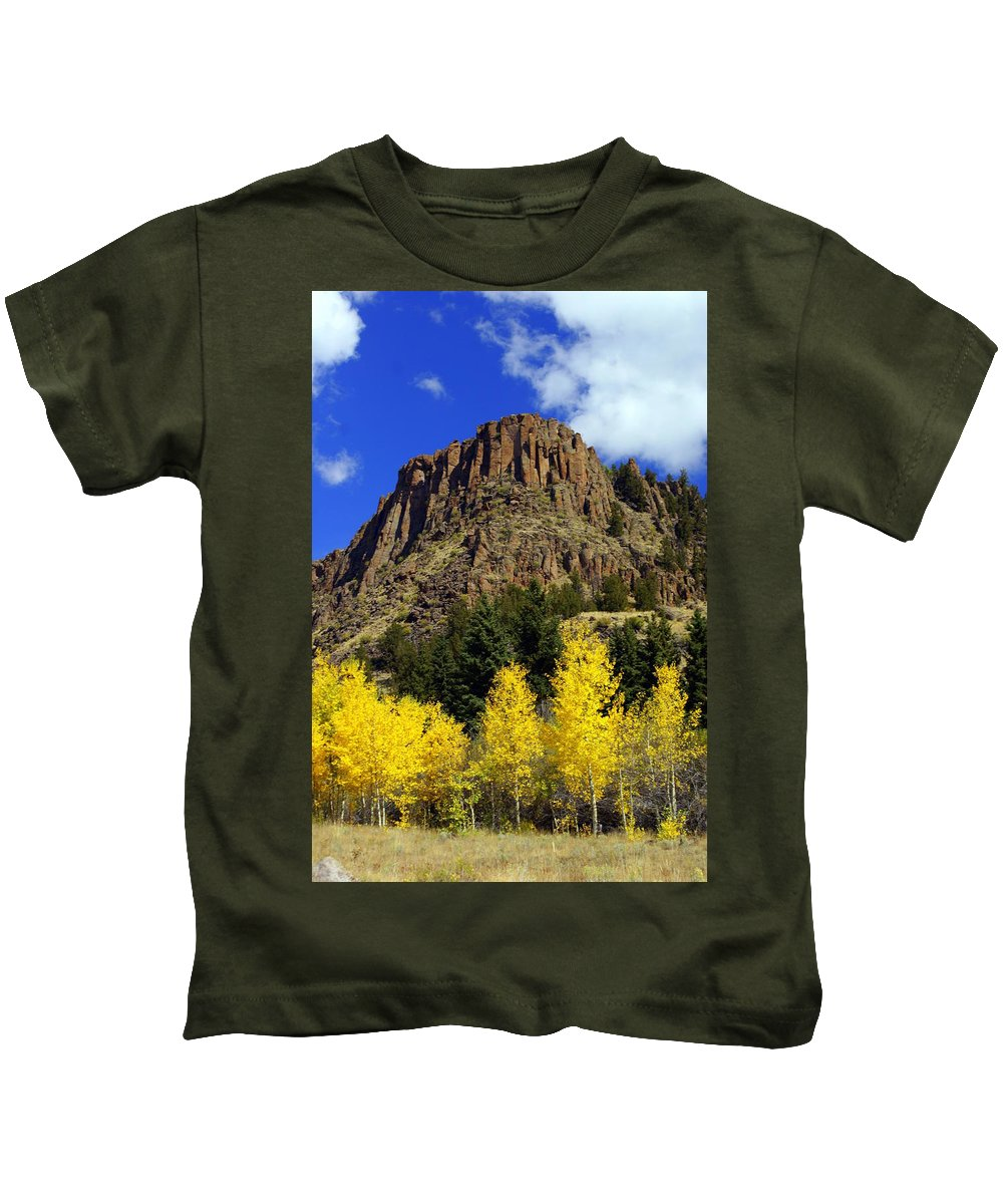 Colorado Kids T-Shirt featuring the photograph Colorado Butte by Marty Koch