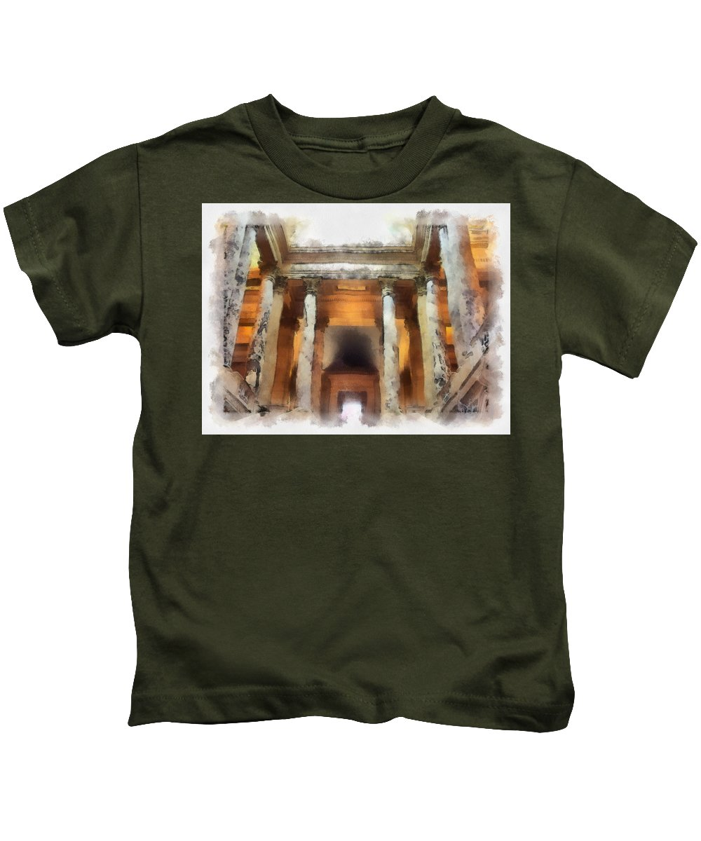 Columns Kids T-Shirt featuring the photograph Columns by Paulette B Wright